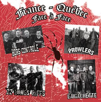 12´´  Hors Contrôle / 22 Longs Riffs / La Gachette / The Prowlers (2) – France - Québec Face À Face