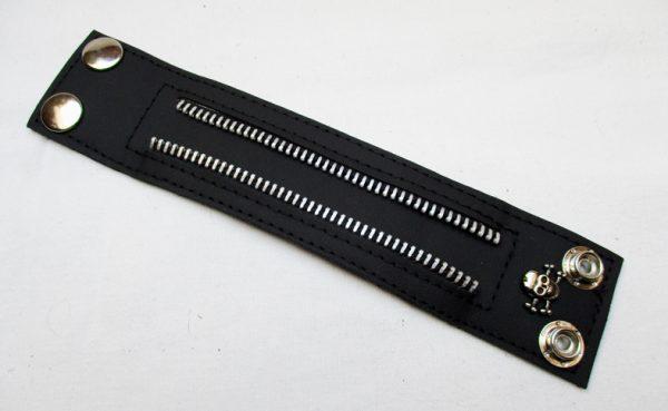 Pásek se zipy - černý