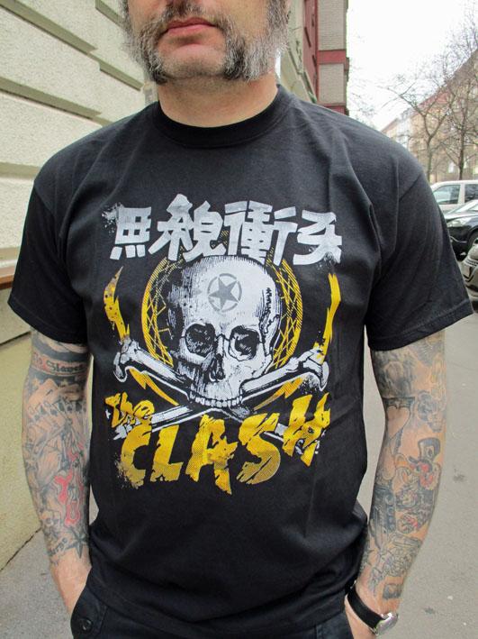 Tričko Clash - Skull and bones