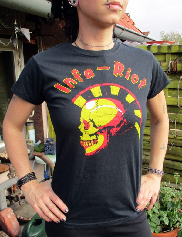 Tričko Infa Riot - skull