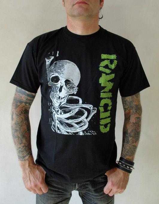 Tričko Rancid - skull
